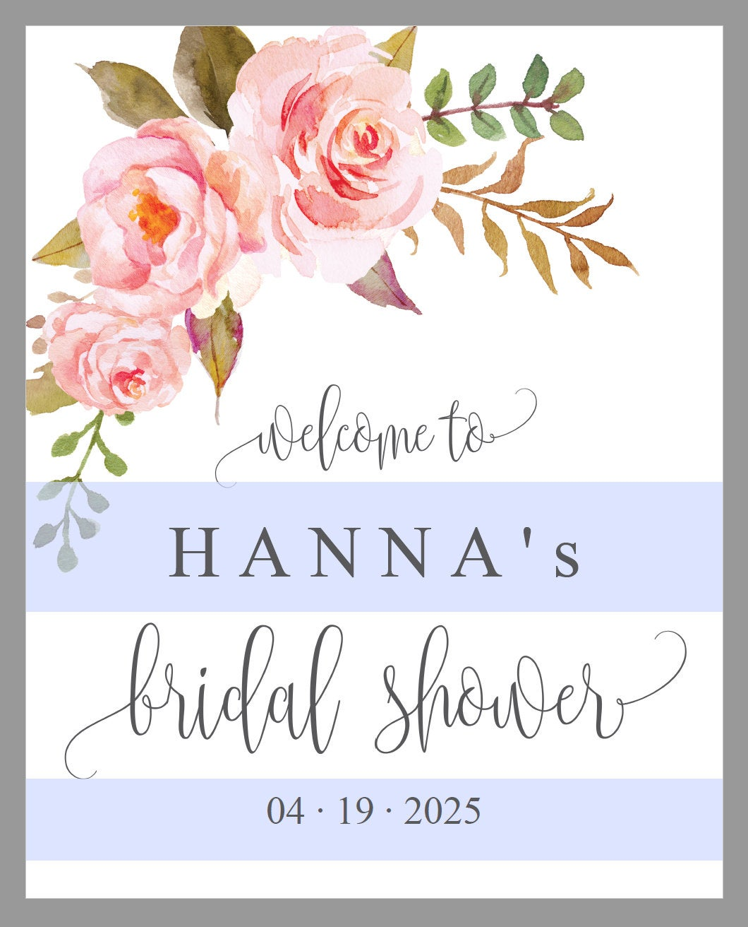 Floral Bridal Shower Welcome Sign Printable Template Editable Instant Download Wedding Décor  -HANNA