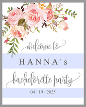 Load image into Gallery viewer, Floral Bachelorette Party Welcome Sign Printable Template Editable Instant Download Wedding Décor -HANNA