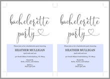 Load image into Gallery viewer, Bachelorette Party Invite, DIY Editable Instant Download Bachelorette Invites, Rustic Invitation Template  - Heather