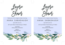 Load image into Gallery viewer, Greenery Lingerie Party Invitation Instant Download Printable Editable Template DIY Bridal Shower Invite  - ANNA