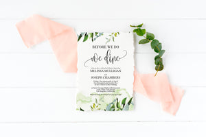 Before We Do We Dine Invitation Template, Printable Wedding Rehearsal Dinner Invitation, Greenery Wedding, Instant Download,  - Melissa