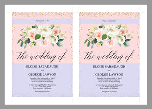 Blush Floral Wedding Invitation Editable Template, Printable DIY Instant Download Invites, Digital Download Invitations-Eloise