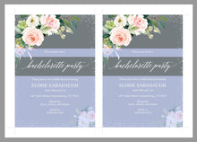 Load image into Gallery viewer, Bachelorette Party Invite, DIY Editable Instant Download Bachelorette Invites, Blush Floral Invitation Template- Eloise