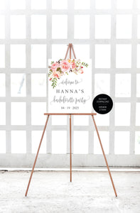 Floral Bachelorette Party Welcome Sign Printable Template Editable Instant Download Wedding Décor -HANNA