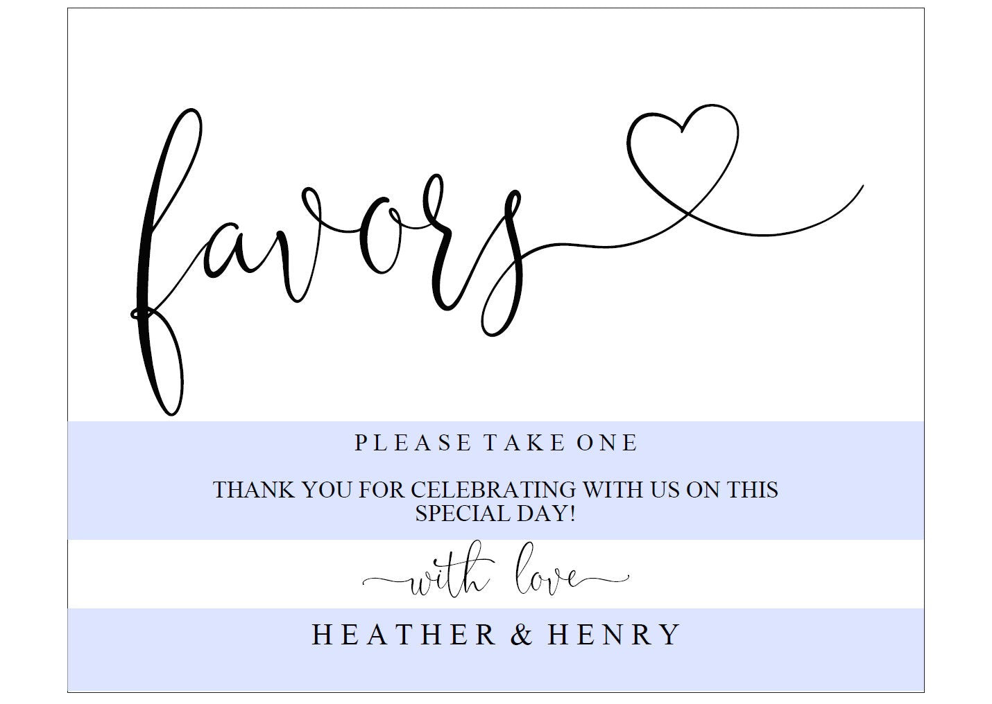 Printable Wedding Favor Sign,Wedding Favors template,Wedding Sign,Please Take One,Wedding Printable, Rustic, Instant Download -Heather
