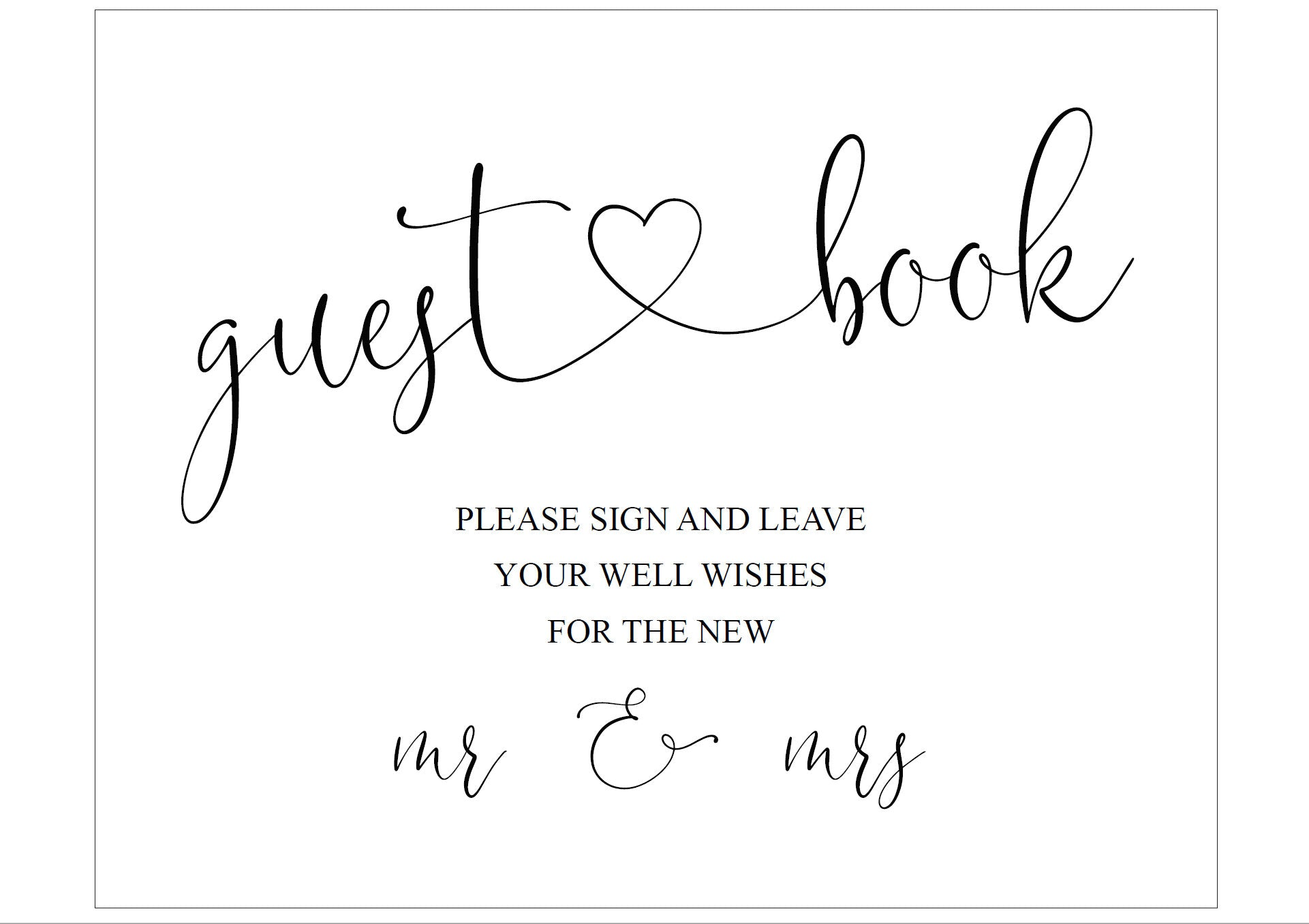 Wedding Guestbook Sign, Please Sign Our Guest Book, Rustic,Instant Download,Wedding Signage,Wedding Decor, Printable Reception Sign -Heather