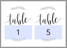 Load image into Gallery viewer, Rustic Wedding Table Number, Wedding Table, Printable Numbers, Instant Download,DIY Table Numbers, Table Cards, Wreath, Laurel  -HANNAH