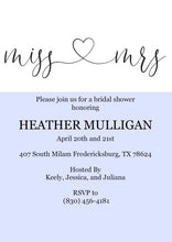 Load image into Gallery viewer, Miss to Mrs Bridal Shower Invitation Instant Download Printable Editable Template DIY Bridal Shower Invite  - Heather