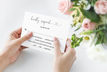 Load image into Gallery viewer, RSVP Card Template, Wedding RSVP, Response Card, RSVP cards, Rustic Wedding, Printable rsvp, Wedding Response  - Heather