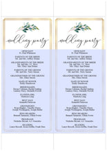 Load image into Gallery viewer, Greenery Gold Wedding Program Template Printable Ceremony Programs Editable Template Instant download - TARA