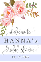 Load image into Gallery viewer, Bridal Shower Welcome Sign Printable Template Editable Instant Download Floral Wedding Décor  -HANNA