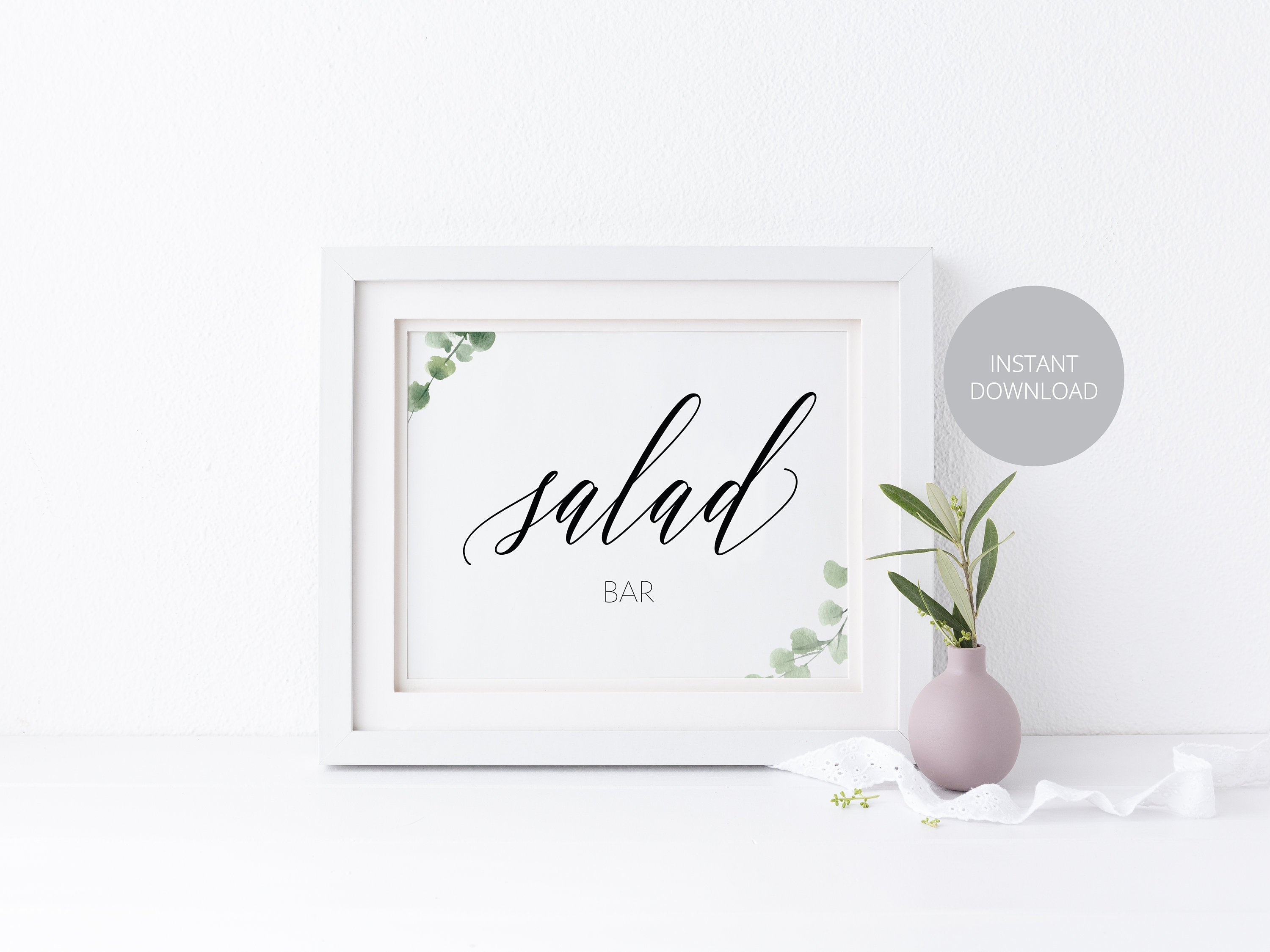 Wedding Salad Bar Sign, Wedding Bar Sign, Wedding Food Sign, Wedding Signage, Wedding, Wedding Decor, Instant Download