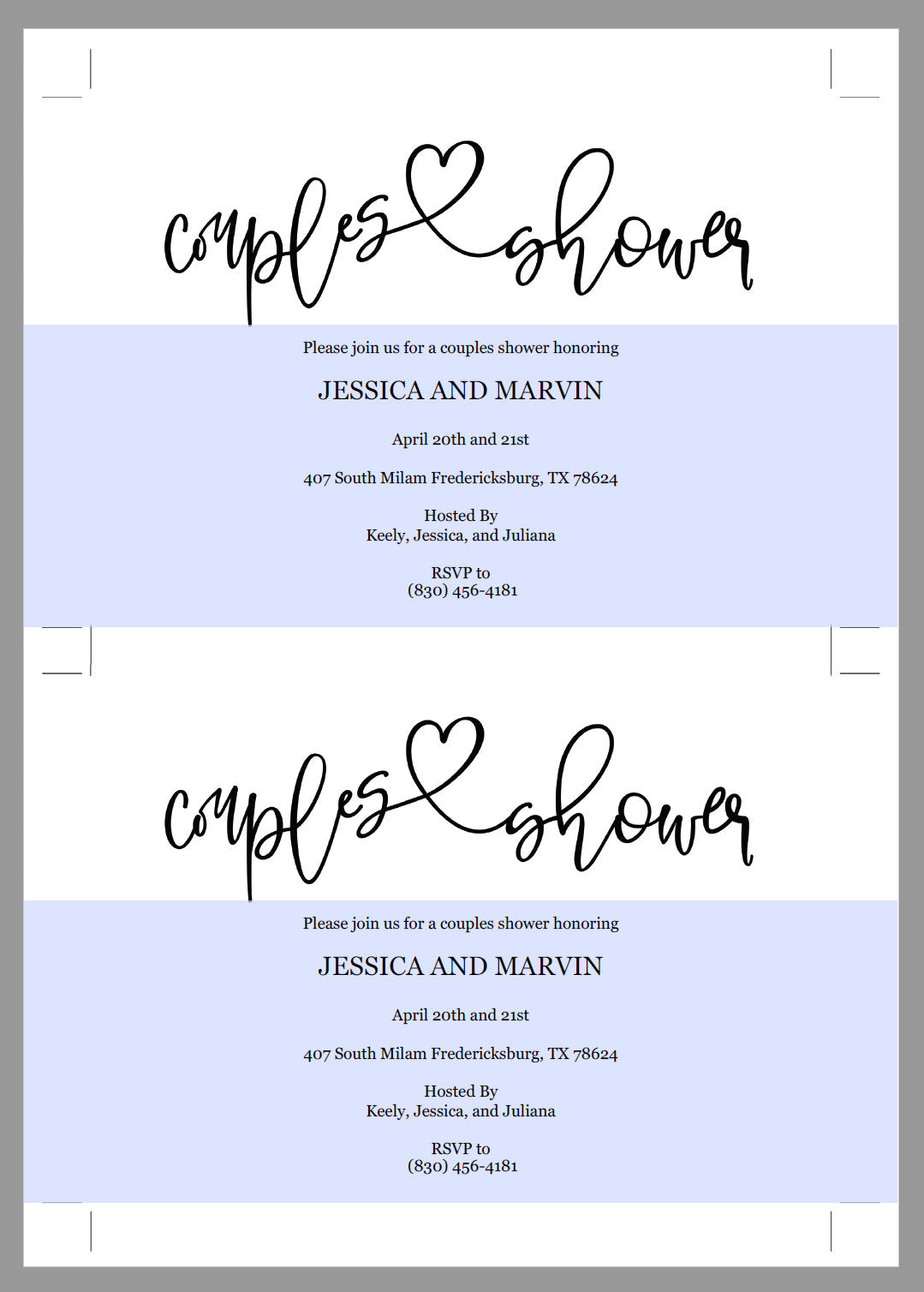 Rustic Couples Shower Invitation Instant Download Printable Editable Template DIY Bridal Shower Invite-JESSICA