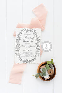 Rustic Bridal Shower Invitation Instant Download Printable Editable Template DIY Bridal Shower Invite Templett   - Olivia