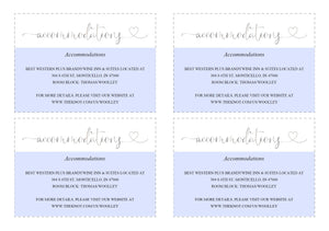 Wedding Details Card Template, Instant Download, Information Card, Wedding Info Card, Accommodations Card, Directions Card, Silver - Heather