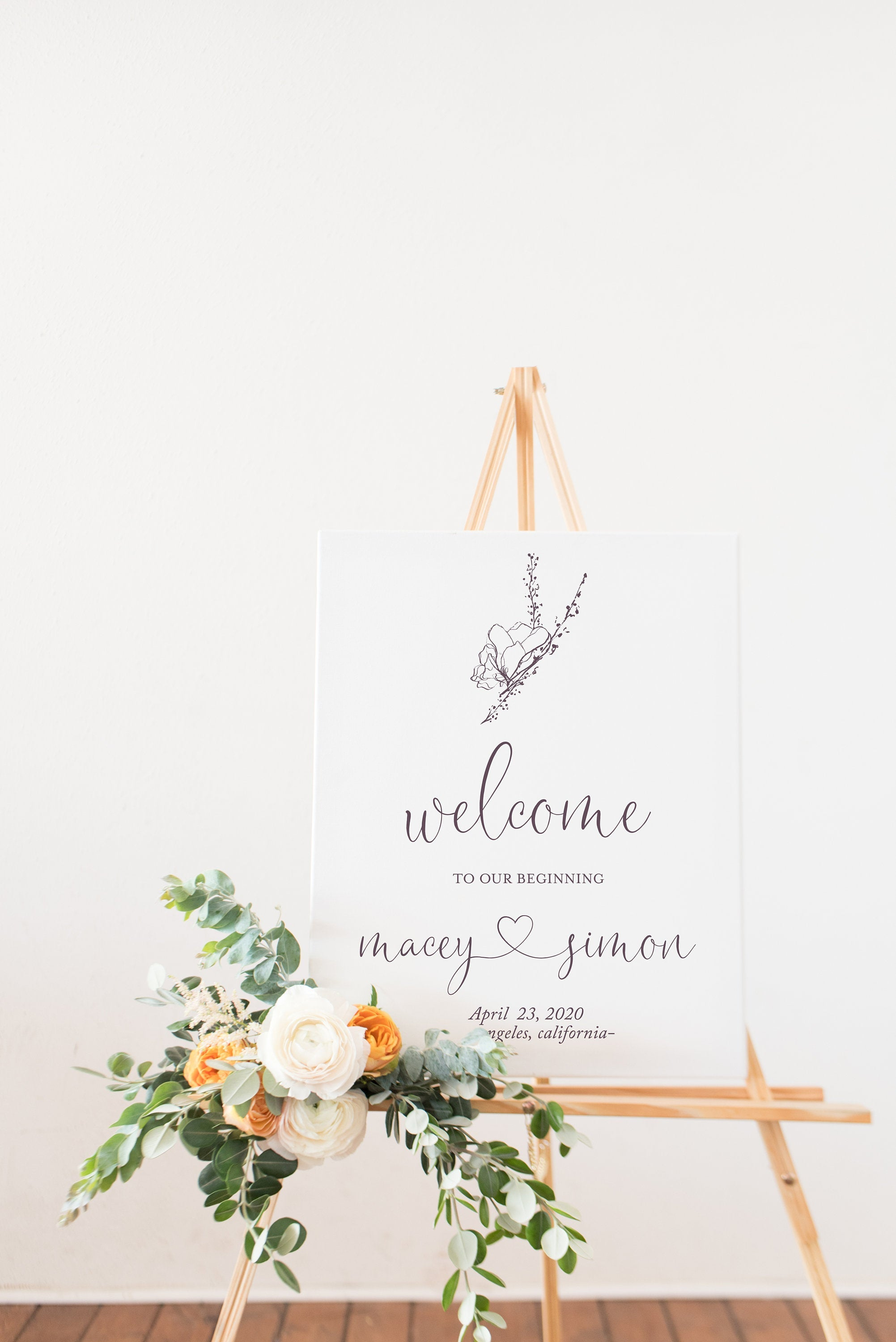 Printable Wedding Welcome Sign Editable Template Instant Download - Macey