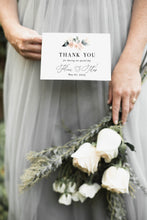 Load image into Gallery viewer, Elegant Wedding Thank You Card, Instant Download, Thank you Cards, Printable Thank You, Wedding Cards, Calligraphy  - Fleur