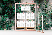 Load image into Gallery viewer, Wedding Seating Chart Template Printable Floral Seating Sign Seating Cards Editable Text INSTANT DOWNLOAD - Fleur