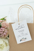 Load image into Gallery viewer, Printable Welcome Wedding Gift Bag Tags Favors Instant Download, 100% Editable- Fleur