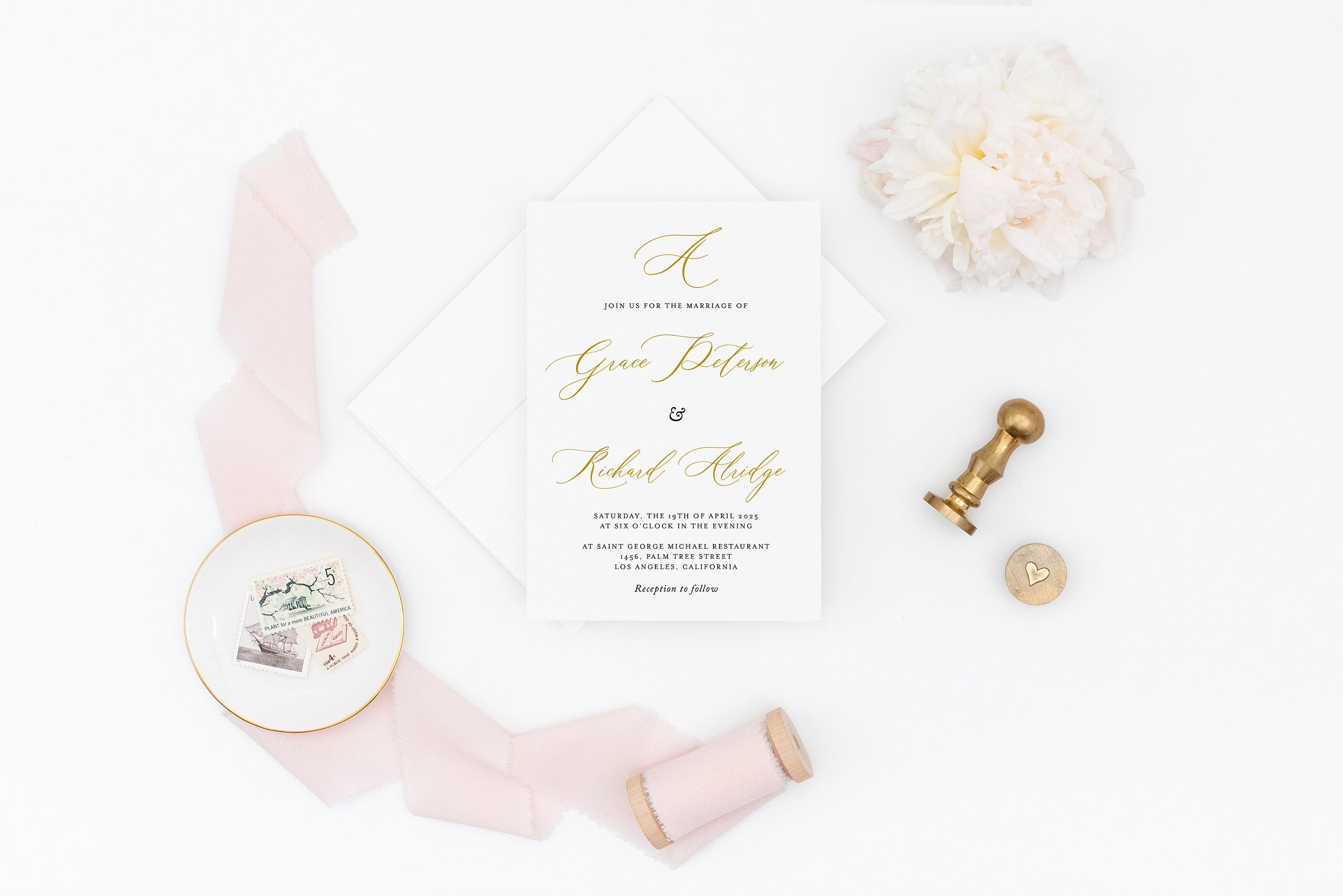 Wedding Invitation Template, Floral Watercolor, Instant Download, Templett, Printable Wedding, Editable - Grace