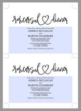 Load image into Gallery viewer, Rehearsal Dinner Invitation Template, Printable Wedding Rehearsal Dinner Invitation, Rustic Wedding, Instant Download, Heart  - JESSICA