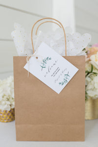 Printable Welcome Wedding Gift Bag Tags Favors Instant Download 100% Editable Greenery - Abi