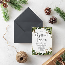 Load image into Gallery viewer, EDITABLE Christmas Dinner Invitation Holiday dinner Christmas Party Invitations Christmas Invitation Template Instant Download CC1