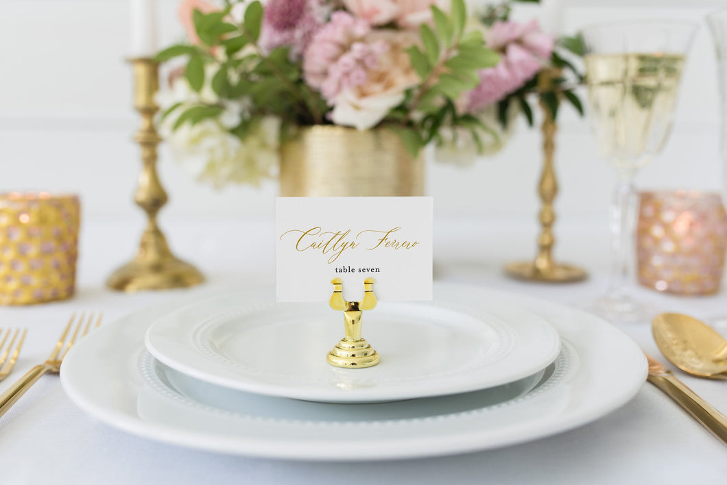 Place Card Template Templett Wedding Escort Cards Printable Place Card, Place Cards Gold Editable Wedding - Grace