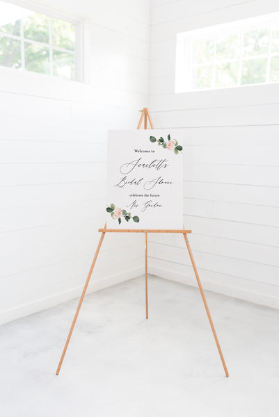 Printable Floral Bridal Shower Welcome Sign Template Editable Instant Download Wedding Décor Greenery - Scarlett