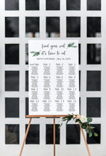 Load image into Gallery viewer, Greenery Wedding Seating Chart Template Printable Seating Sign Editable Text INSTANT DOWNLOAD - Jasmine