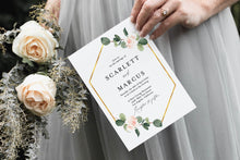 Load image into Gallery viewer, Greenery Floral Wedding Invitation Template Instant Download Templett Printable Wedding Editable - Scarlett