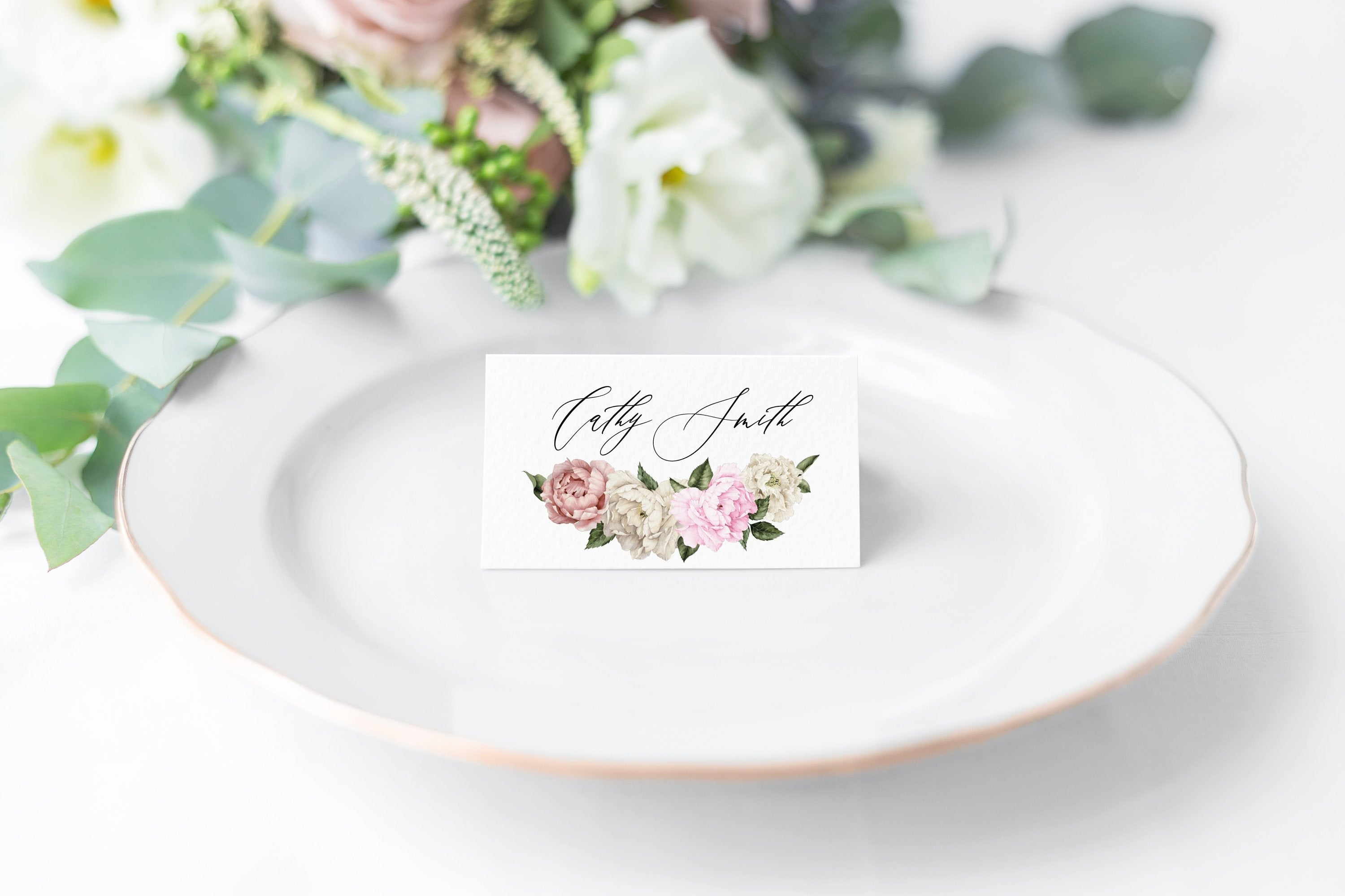 Place Card Template Wedding Escort Cards Printable Place Card Cards Floral Editable Wedding - Harper