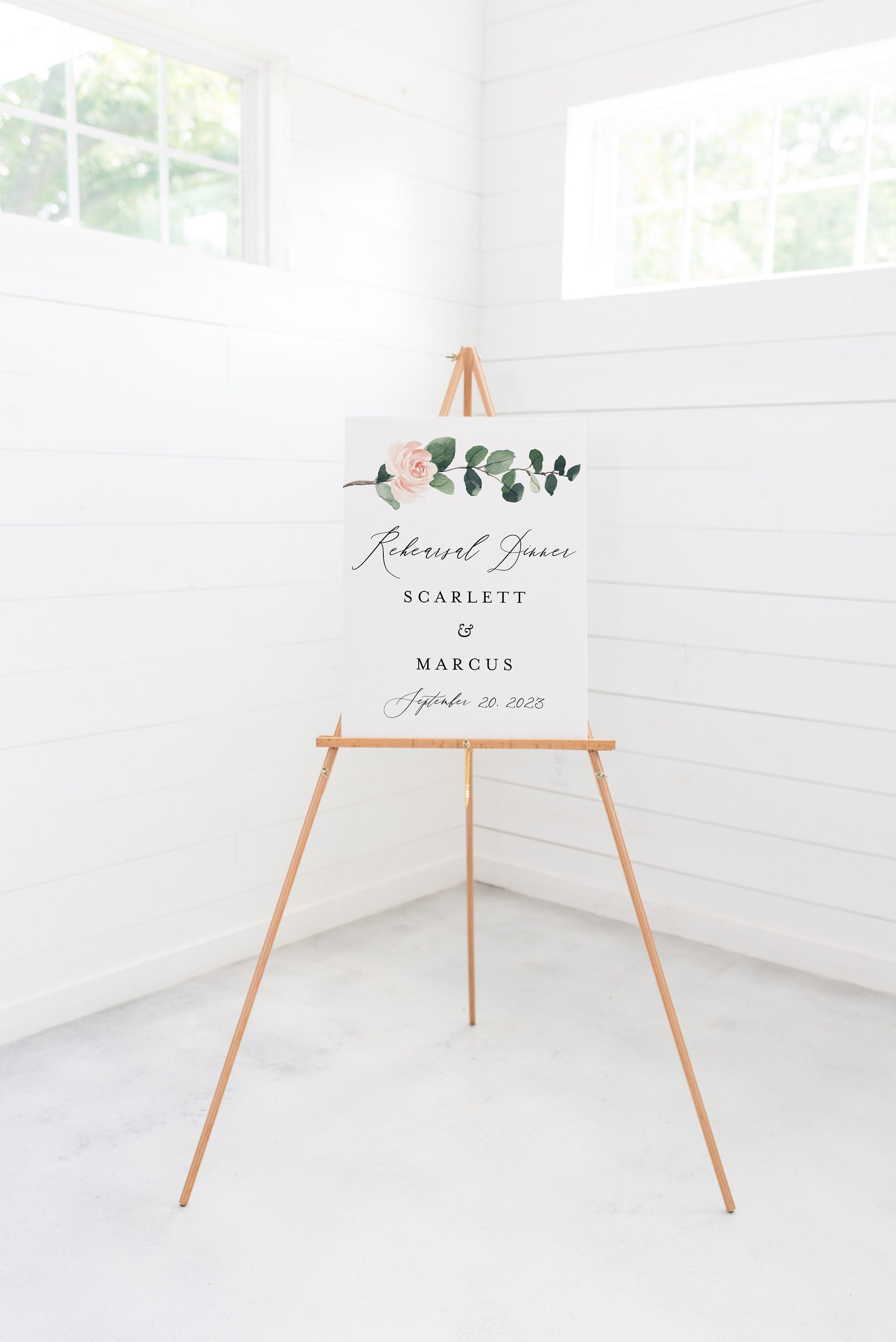 Printable Rehearsal Dinner Welcome Sign Editable Template Instant Download Greenery - Scarlett