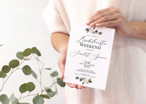 Greenery Bachelorette Weekend Invite, DIY Editable Template Instant Download Bachelorette Invites Invitation Party - Scarlett