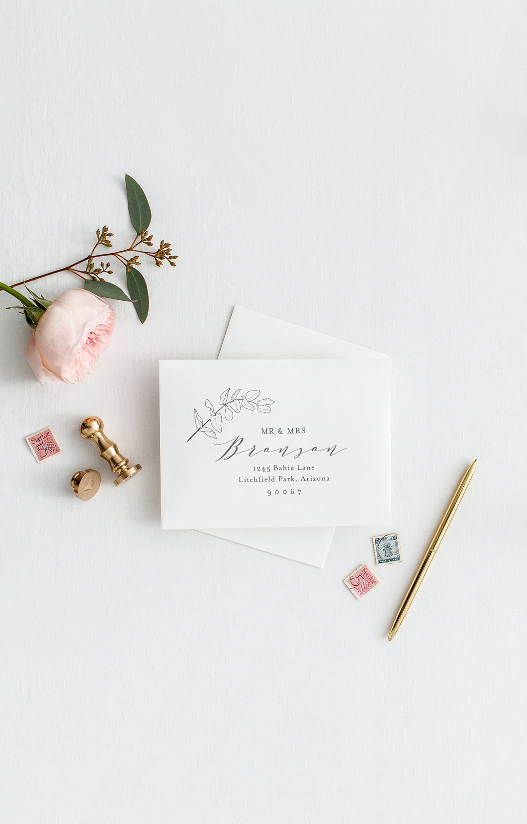 Envelope Addressing Template DIY Envelope Template for Wedding Printable Envelope for Save the Date Instant Download RSVP Envelope - Abi