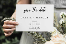 Load image into Gallery viewer, Minimal Save-the-Date Template Engagement Invite 100% editable Minimal - Callie