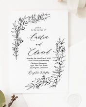 Load image into Gallery viewer, Wedding Invitation Template Instant Download Templett Printable Wedding Editable - Amalia