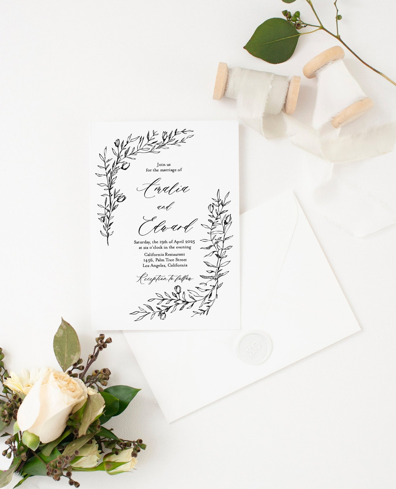 Wedding Invitation Template Instant Download Templett Printable Wedding Editable - Amalia