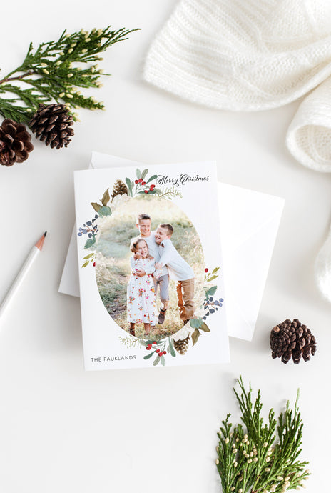 Photo Christmas Card Template, christmas card templates for photographers - SELENA