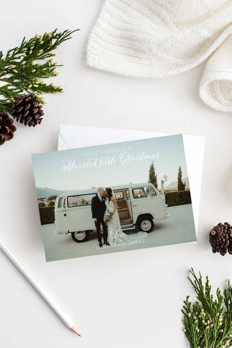 Photo Christmas Card Template, Wedding Christmas Card, Holiday Card, christmas card templates for photographers - SELENA
