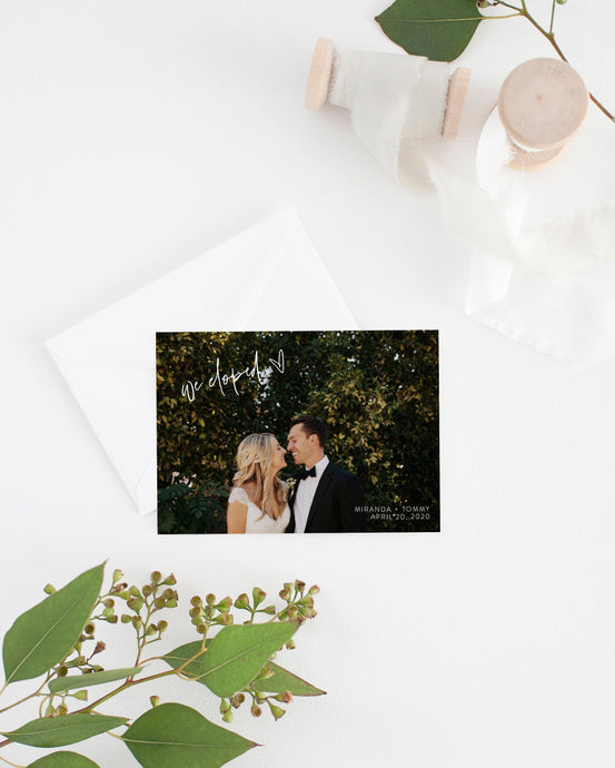 Nothing Fancy Just Love Elopement Template with Photo, Elopement Cards, Photography, Instant Download - MIRA