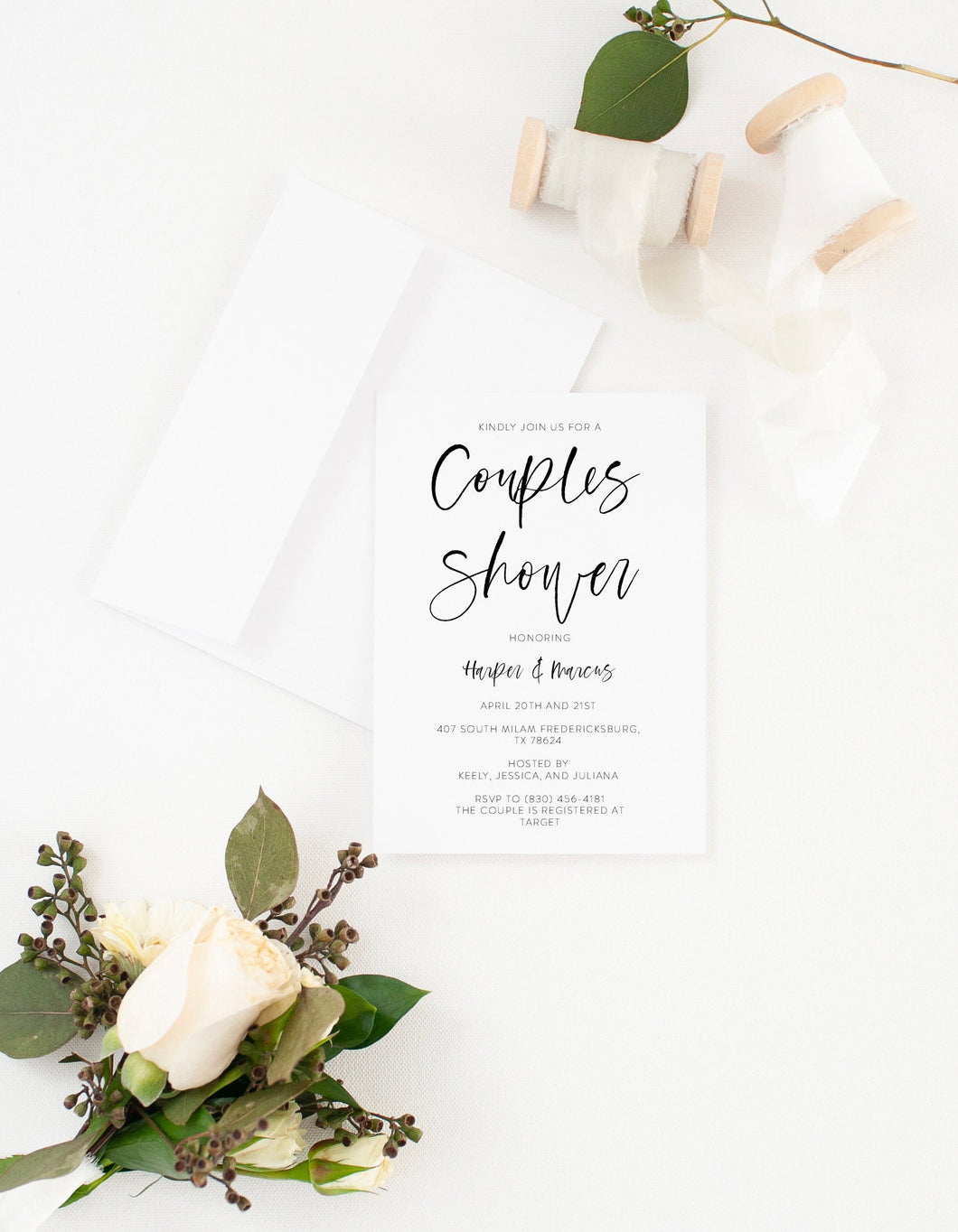 Couples Shower Invite Template Templett Shower Printable Invitation Instant Download Bridal Shower- Eileen