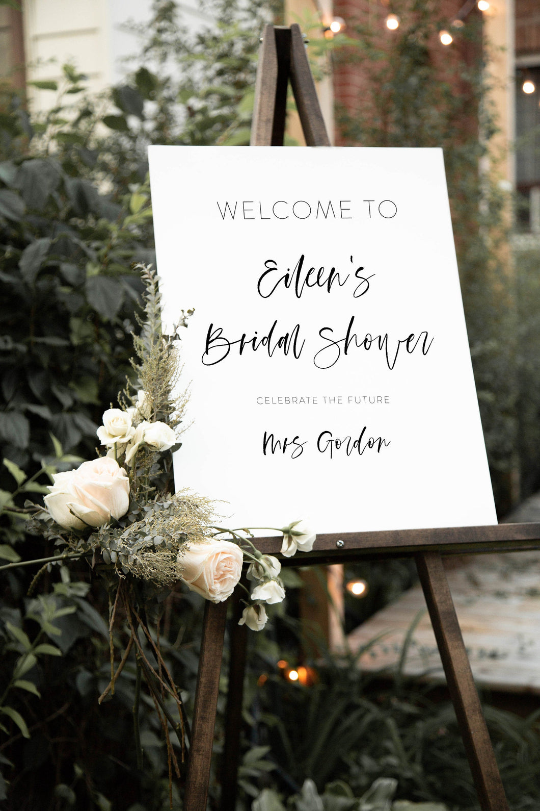 Printable Bridal Shower Welcome Sign Template Editable Instant Download Wedding Décor - Eileen