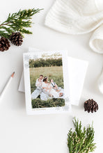Load image into Gallery viewer, Christmas Card Couple Photo Christmas Card Modern Christmas Card Printed Christmas Cards Greenery Gold