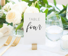 Load image into Gallery viewer, Simple Table Numbers Printable Wedding Instant Download DIY Minimalist  - Eileen