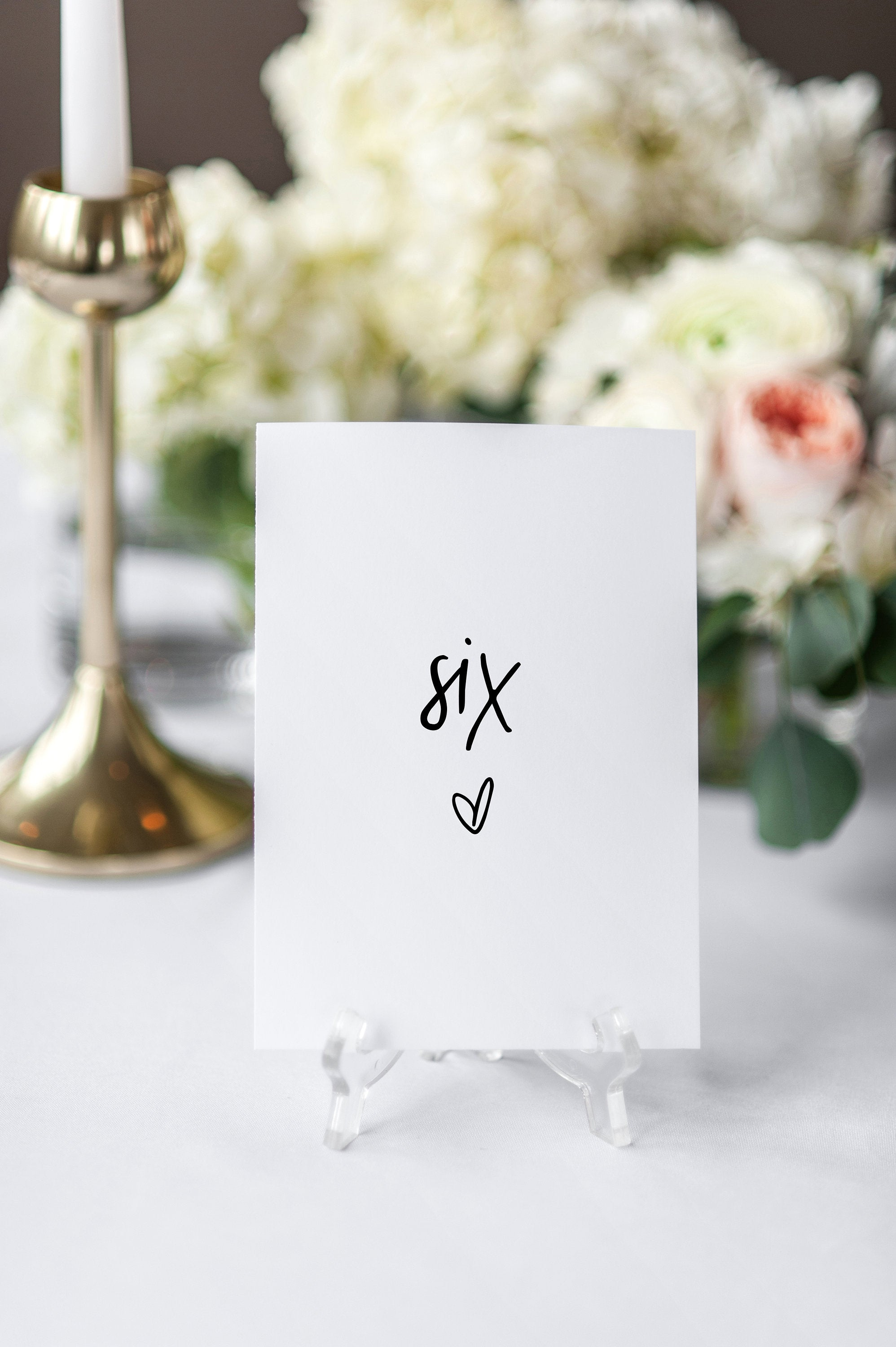 Modern Wedding Table Number Template, Minimalist Table Numbers, Table Number Templett, INSTANT Printable Table Numbers 4x6 5x7  - DONNA