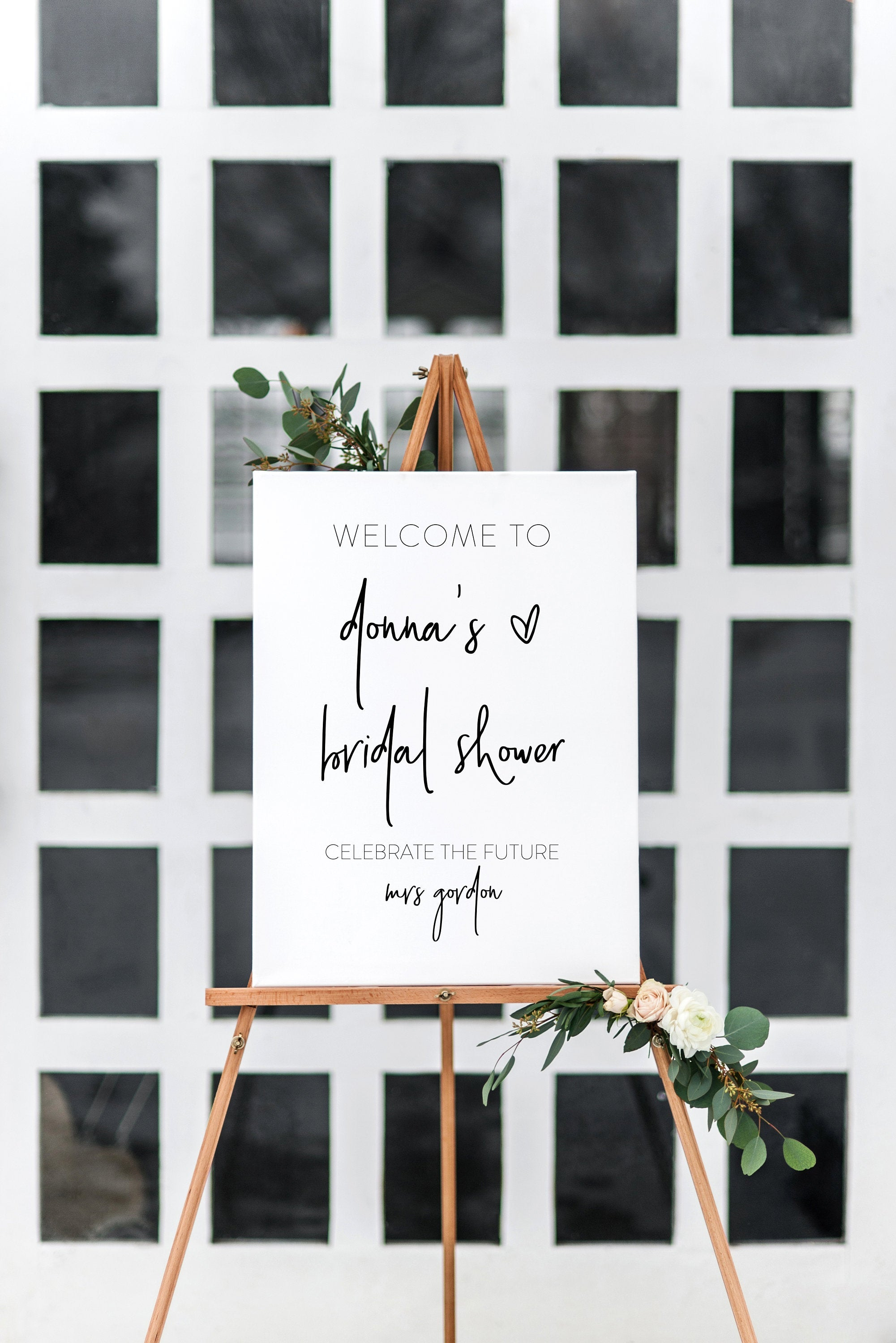 Printable Bridal Shower Welcome Sign Template Editable Instant Download Wedding Décor - DONNA