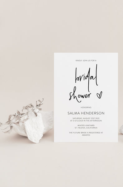 Modern Bridal Shower Invitation Instant Download Printable Editable Template DIY Bridal Shower Invite Templett   - DONNA