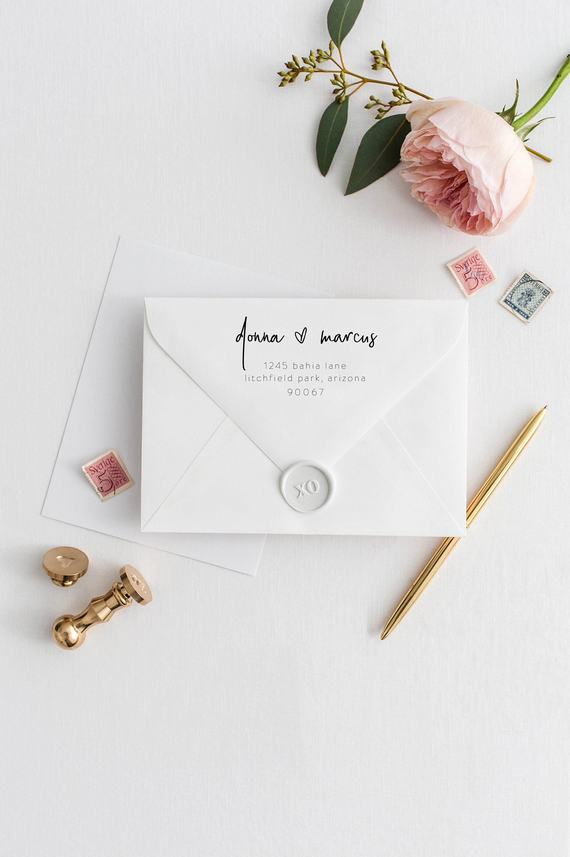 Envelope Addressing Template DIY Envelope Template for Wedding Printable Envelope for Save the Date Instant Download RSVP Envelope - DONNA