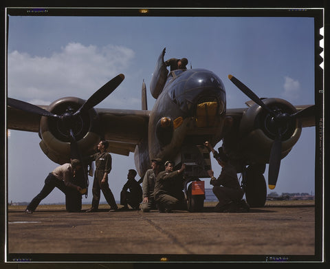 Servicing an A-20 bomber Langley Field Va.